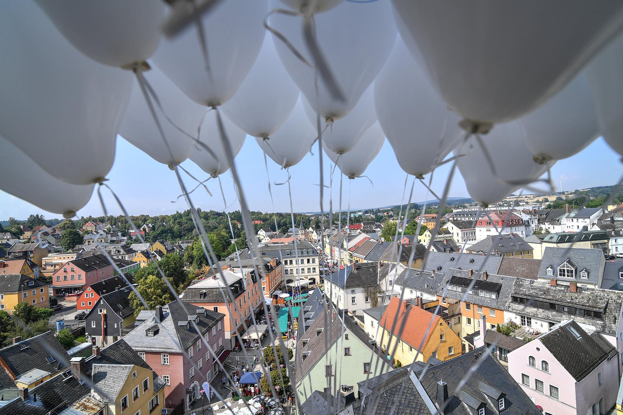 Stadt Selb aus der Vogelperspektive