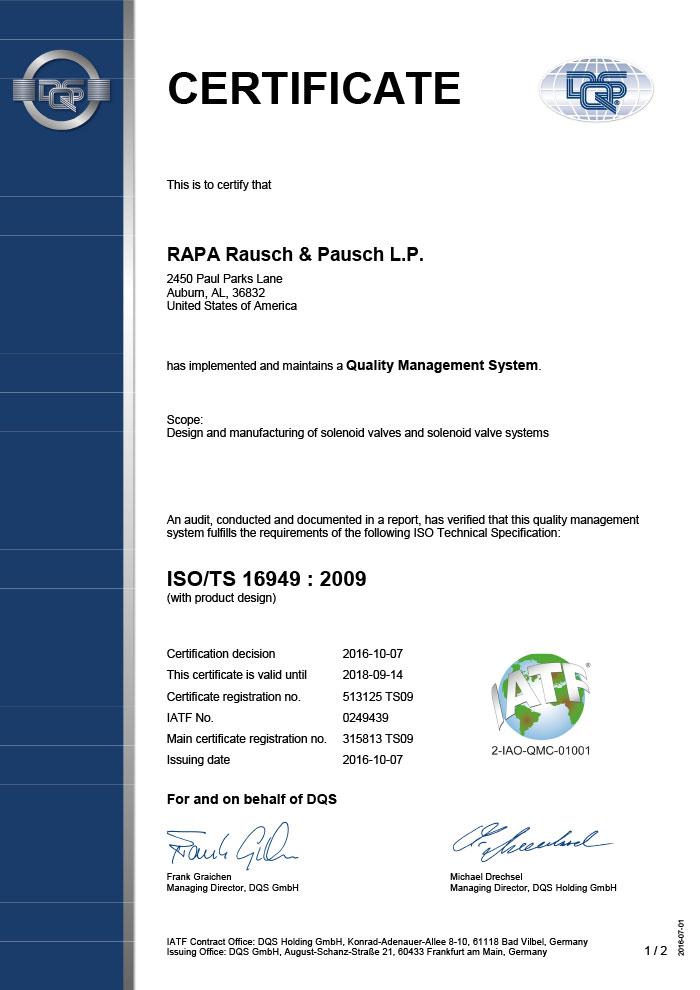 Certificates Rapa